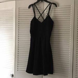 Black Party Dress Straps Cross in Back (Worn Once)